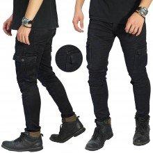 Biker Jeans Cargo Maskulin Black