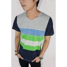 Striped Tee Mixed Colorful