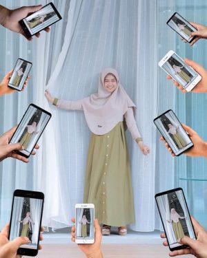 inspirasi gaya hijab di instagram ria ricis