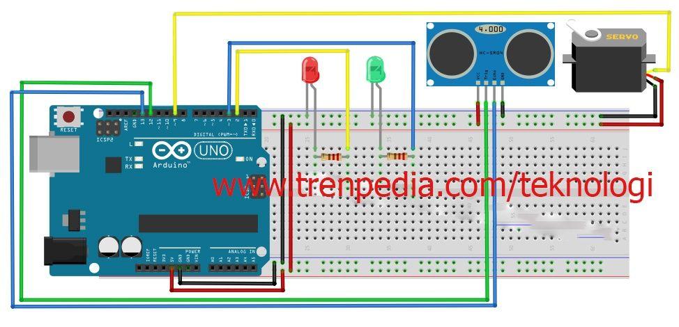 Pintu Otomatis Arduino Menggunakan Sensor Ultrasonik