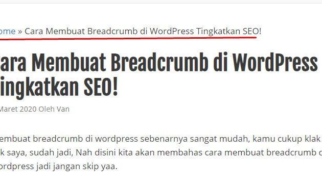 Cara Membuat Breadcrumb di WordPress