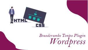 cara membuat breadcrumb wordpress tanpa plugin