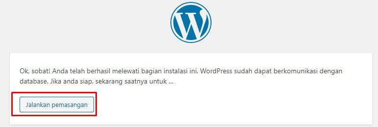 instal wordpress di xampp