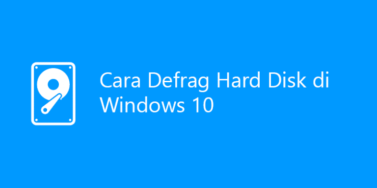 cara defrag di windows 10