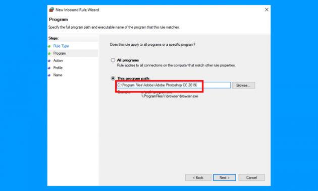 Cara Memblokir Program dengan Windows Firewall