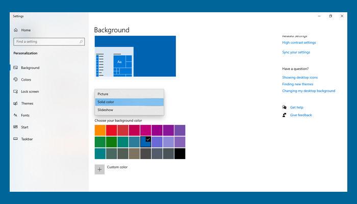 Cara Mengganti Wallpaper Laptop Windows menjadi solid color
