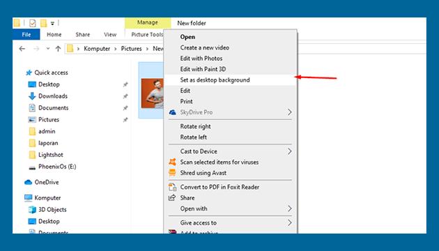 cara mudah mengubah wallpaper laptop windows