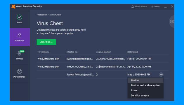 Cara Mengatasi Windows Cannot Access : cek antivirus