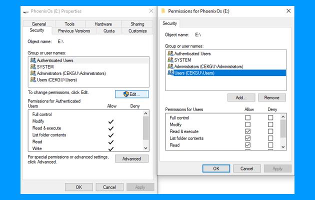 cara mengatasi windows cannot access mengatur hak akses user