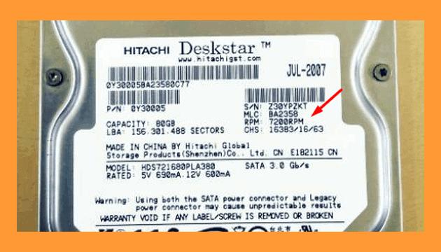 cara mengetahui rpm hardisk dari label hardisk