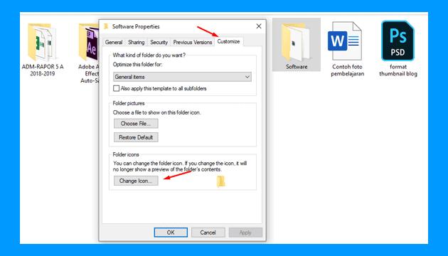 Cara ganti icon folder Jadi Lebih Keren di Semua Windows