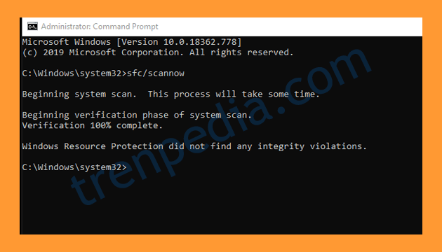 Mengatasi Entry Point Not Found melalui Command Prompt