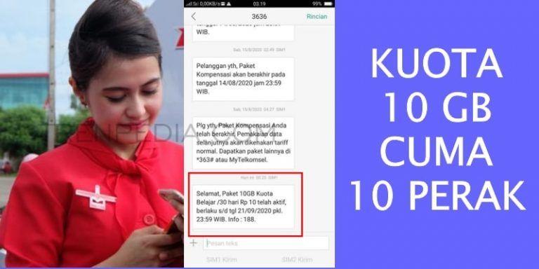 Kuota Belajar 10 GB Telkomsel
