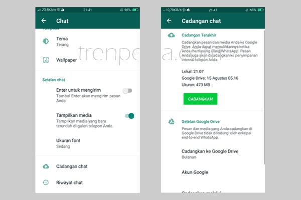 memori penuh oppo - Pindahkan atau Backup Media Whatsapp