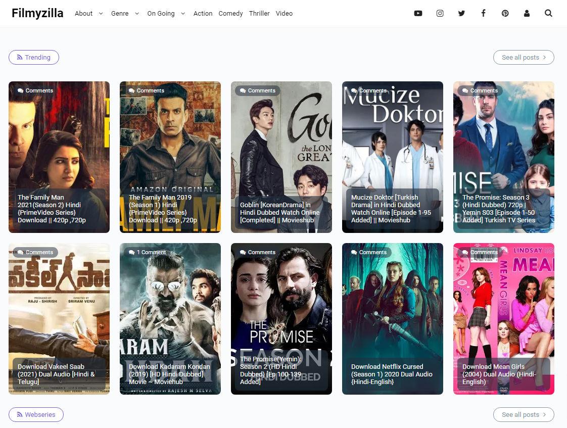 Movie Masti Blogger Template