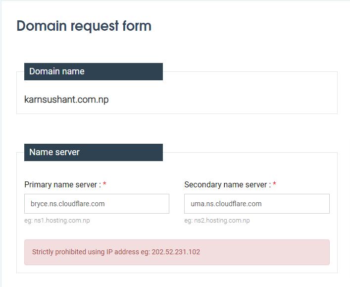 How to register a free .com.np domain