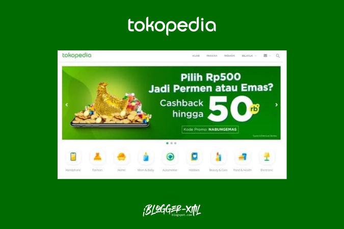 Tokopedia Premium E-Commerce Blogger Template