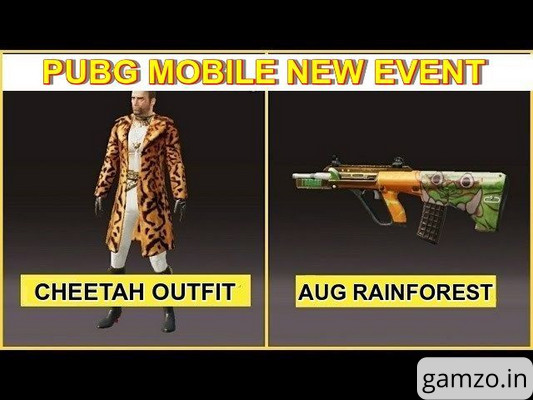 How to get the cheetah set and aug rainforest skin for free! | pubg mobile