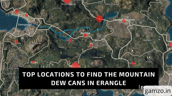PUBG Mobile: 14 Mountain Dew Vending Machine Locations | Get Exclusive Rewards from Mountain Dew Event