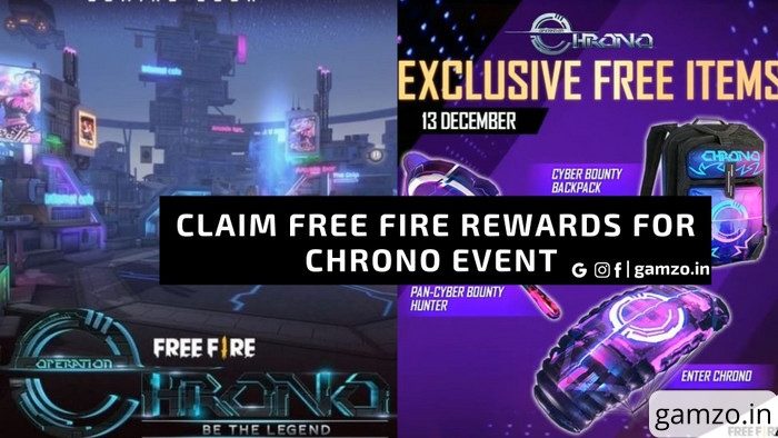 Free Fire New Event Chrono Going Hot | Claim 3 Free Rewards Now!
