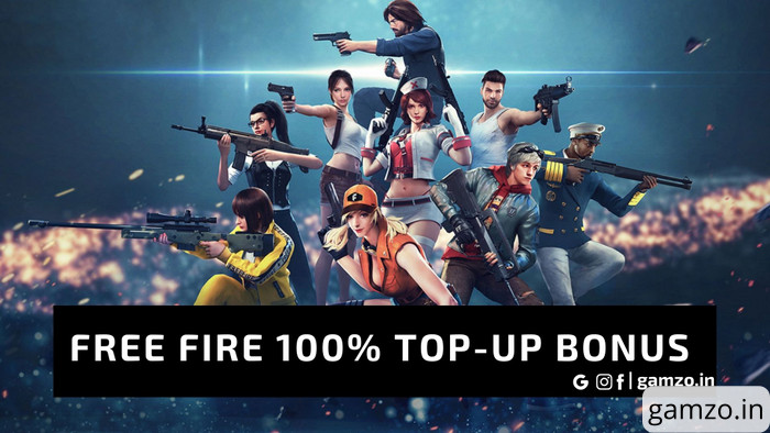 Free fire: claim 100% free fire top up bonus | no download required!