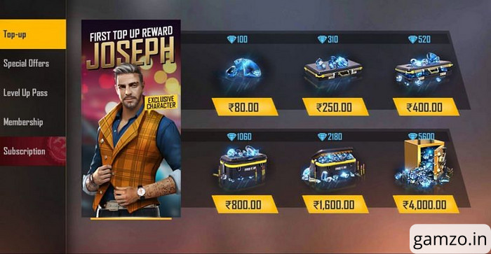 How to get free fire top up bonus