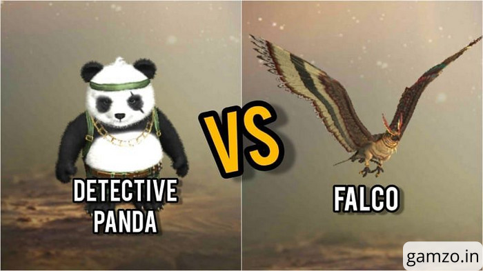 Detective panda vs. Falco: pets in free fire