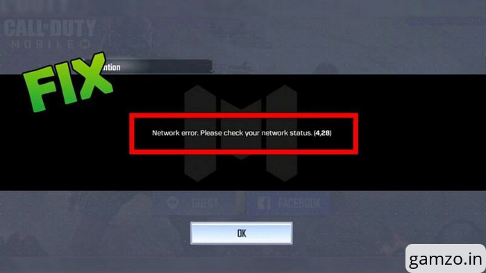 Cod mobile: how to fix network error?