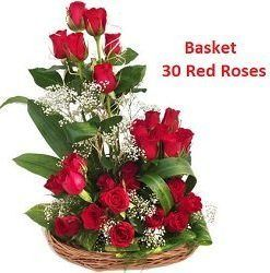 Buy basket of 30 Red Roses and send online