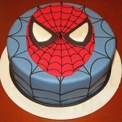 2 Kg Spider Man cartoon themed cake