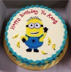 Book 2 Kg Minions cartoon themed cake online