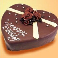 Heart Shape Egg Less Chocolates cake 1 kg
