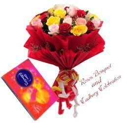 Cadbury Celebration N 12 Mix Roses Bouquet