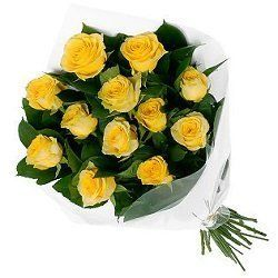 Bunch of 12 Yellow Roses