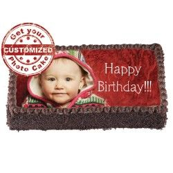 Customized 1 kg cake with your special one photo