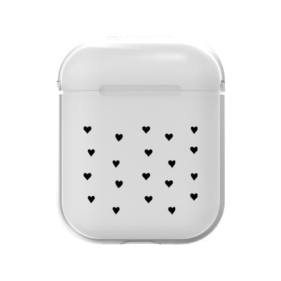 AirPods Case - Black Hearts
