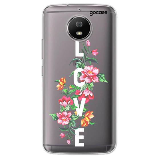 Capinha para celular Amor em Flor Clean