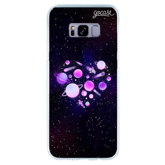Capinha para celular Amor Galáxia