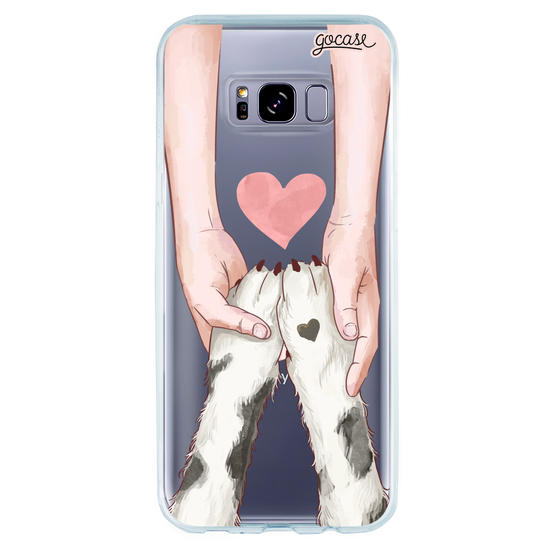 Capinha para celular Amor Pet - Cachorro (Branco e Preto)