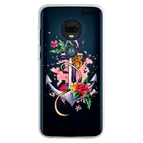Capinha para celular Âncora Floral