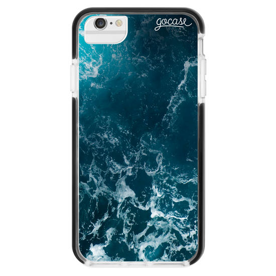 Capinha para celular Anti-Impacto - Ondas do Oceano Customizável