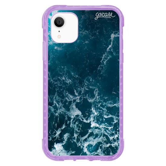 Capinha para celular Anti-Impacto - Ondas do Oceano Customizável