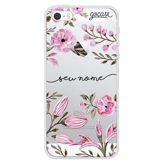 Capinha para celular Aquarela Floral Manuscrita