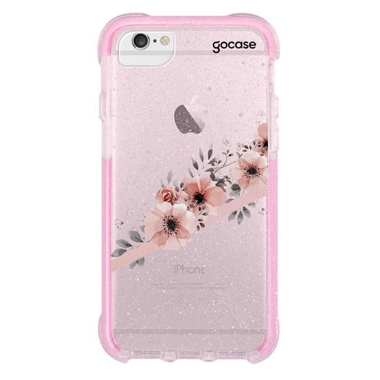 Capinha para celular Arranjos Rosé Clean Customizable
