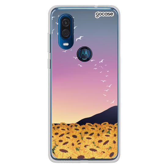 Capinha para celular Aurora de Girassóis Customizável