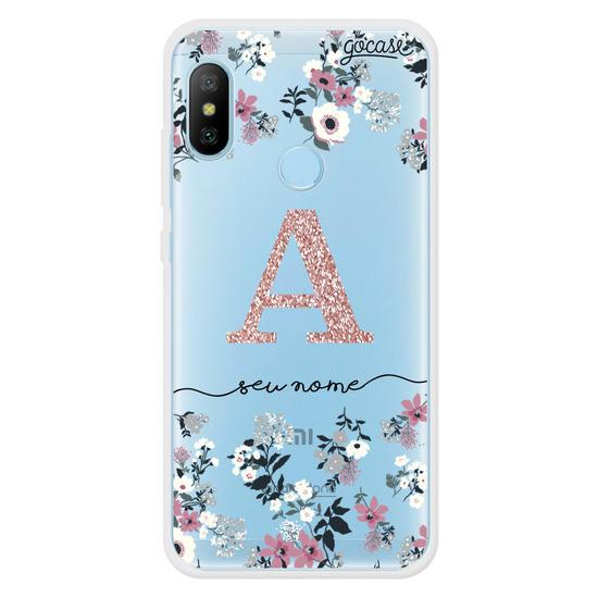 Capinha para celular Bem Floral Glitter - Clean