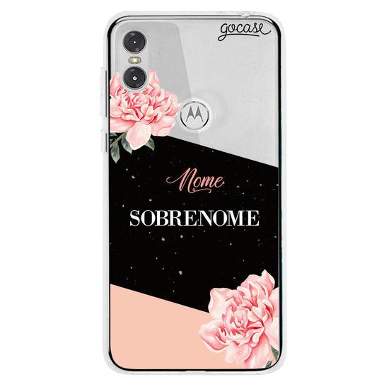 Capinha para celular Black & Rosé Personalizada