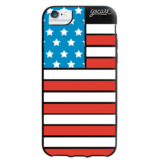 Black Case - USA flag - Independence Day Collection Phone Case