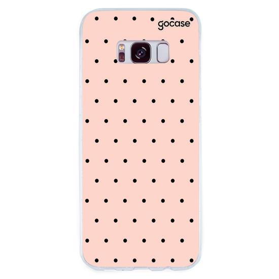 Capinha para celular Black Dots Rosê