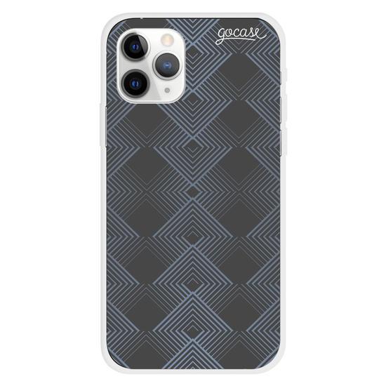 Capinha para celular Black Geométrico Customizada